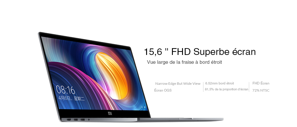 15, 6 pouces Windows 10 Version Chinoise Intel Core i5-8250U- Deep Gray Core i5 8GB + 256GB