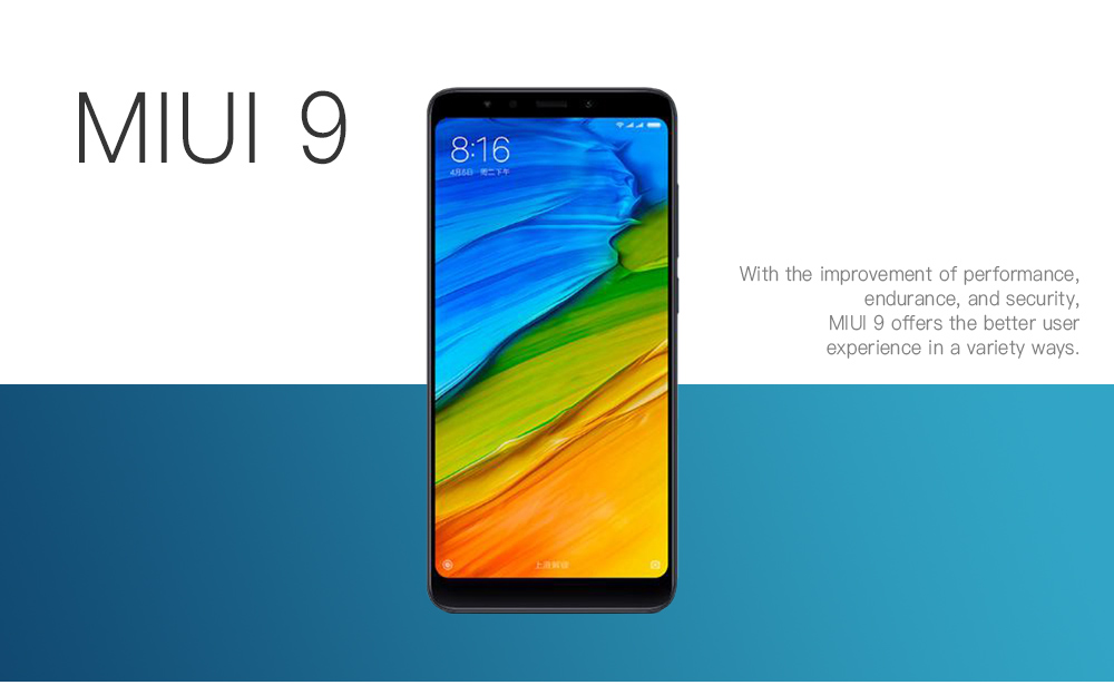 Xiaomi Redmi 5 Plus 4G Phablet 5.99 inch Snapdragon 625 Octa Core 2.0GHz 4GB RAM 64GB ROM 12.0MP Camera FHD+ Screen