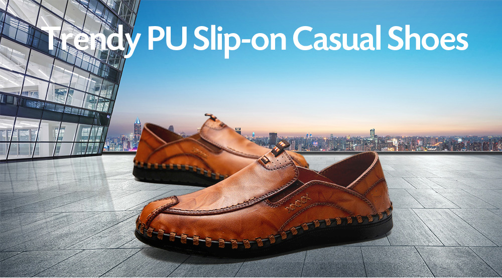 Trendy Business PU Casual Shoes for Men