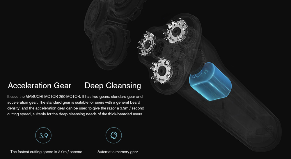 Xiaomi Mijia MJTXD01SKS 360 Degree Float Shaving Waterproof Electric Shaver- Black