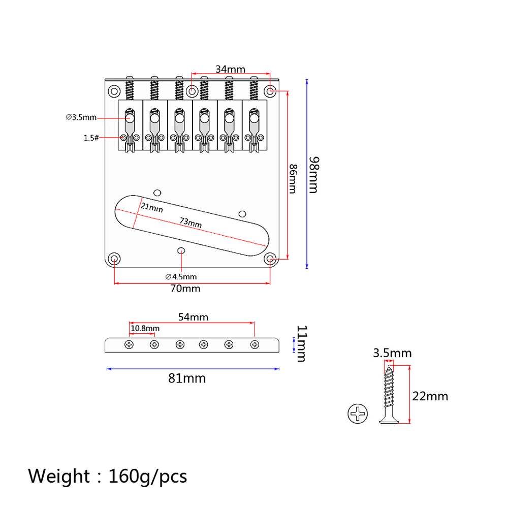 Tl Electric Guitar Bridge Single Pickup Hole With Pattern 1458 Diagram Parts Of The Guess You Like