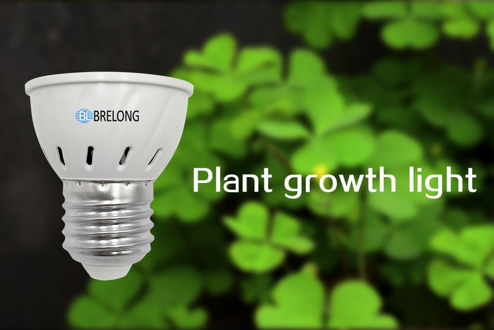 BRELONG E27 E14 GU10 MR16 72LED 2835 Plant Growth Light AC 110-130V 6PC