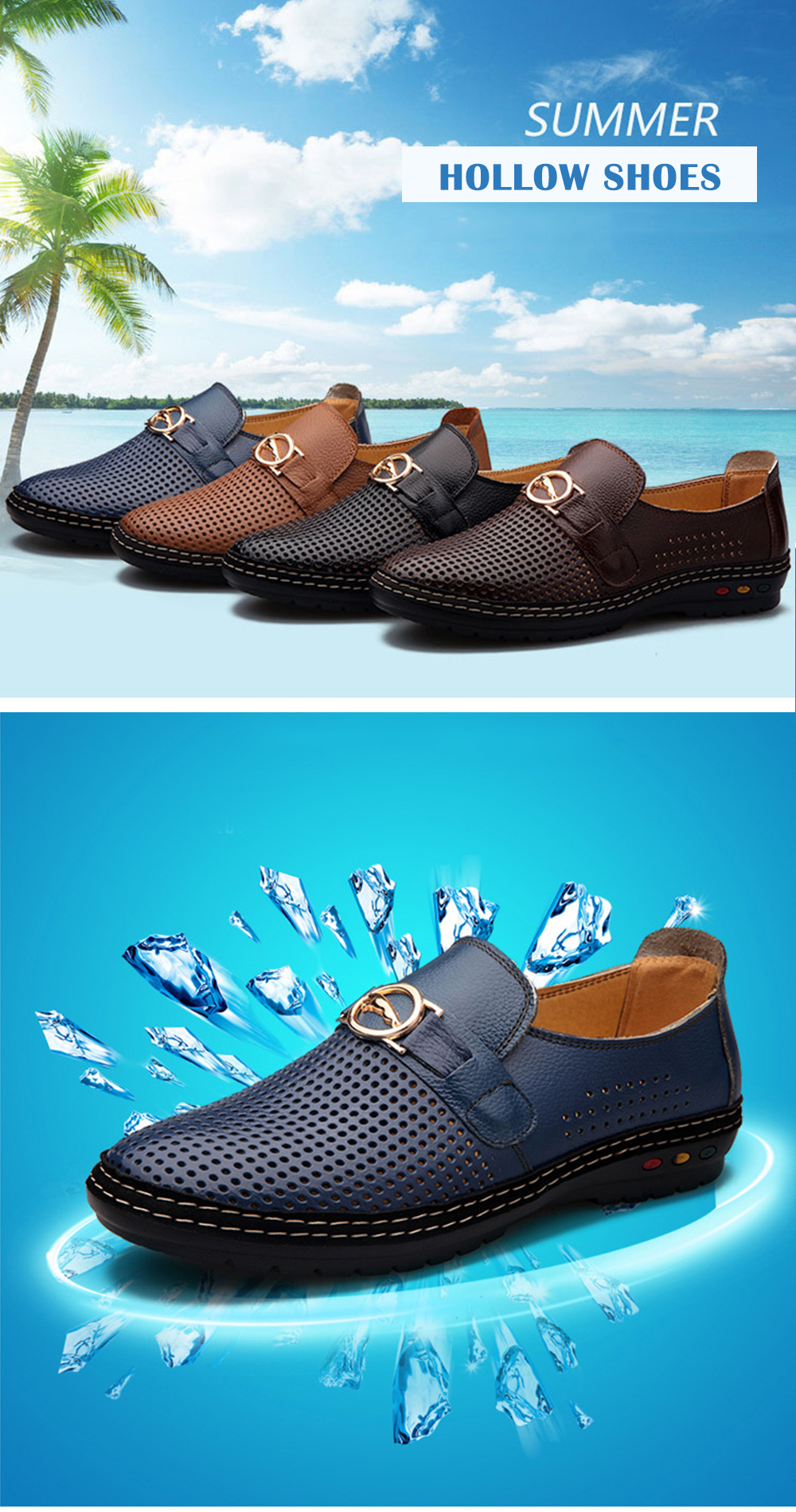 The New Style Casual Slip-on Hollow Breathable Shoes for Men