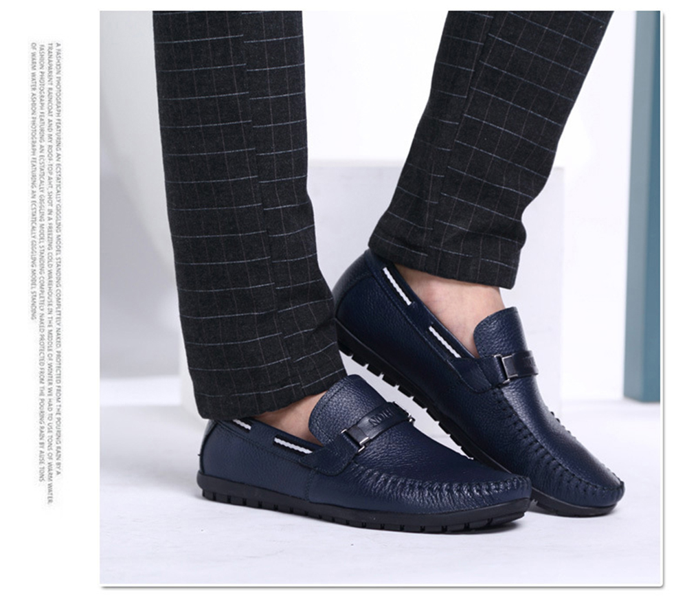 Men Casual Comfort Leather Driving Slip On Loafer Shoes 6329 D Island Loafers Suede Black 41