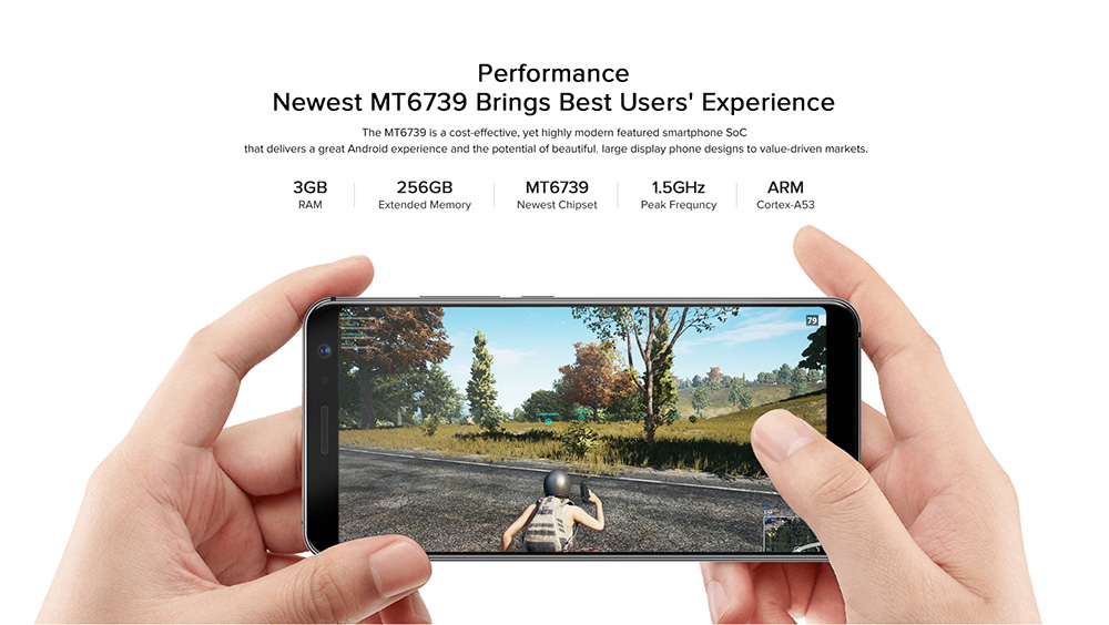 UMIDIGIA1 Pro 4G Phablet 5.5 inch Android 8.1 MTK6739 Quad Core 1.5GHz 3GB RAM 16GB ROM 3150mAh Battery 13.0MP + 5.0MP Dual Rear Cameras Fingerprint Recognition Type-C - Blue