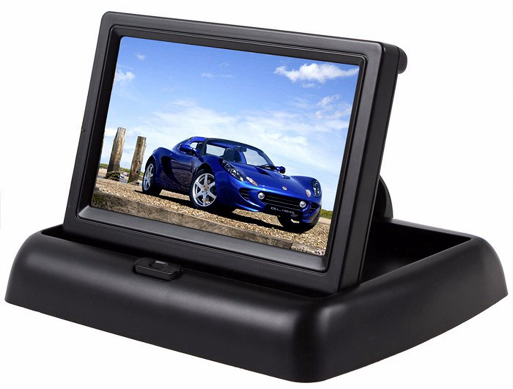ZIQIAO XSP03 - 001 Car Rear View Reversing Visual Monitor System- Black