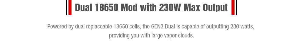 WISMEC Reuleaux RX GEN3 Dual 18650 TC Box Mod With 230W Max Output