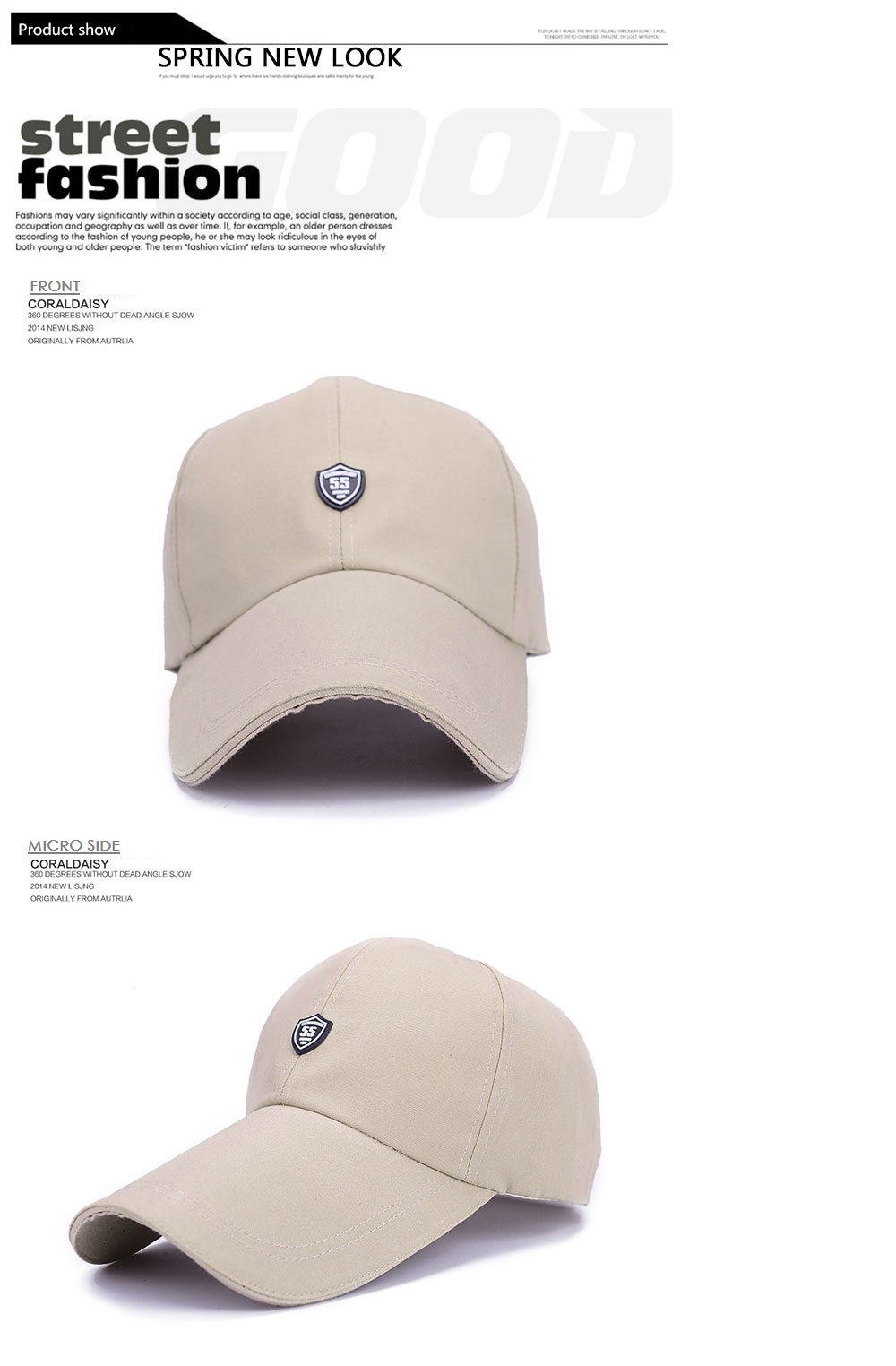 a059f77b6 ZHAXIN Long Brim Canvas Visor Hat for Man and Women
