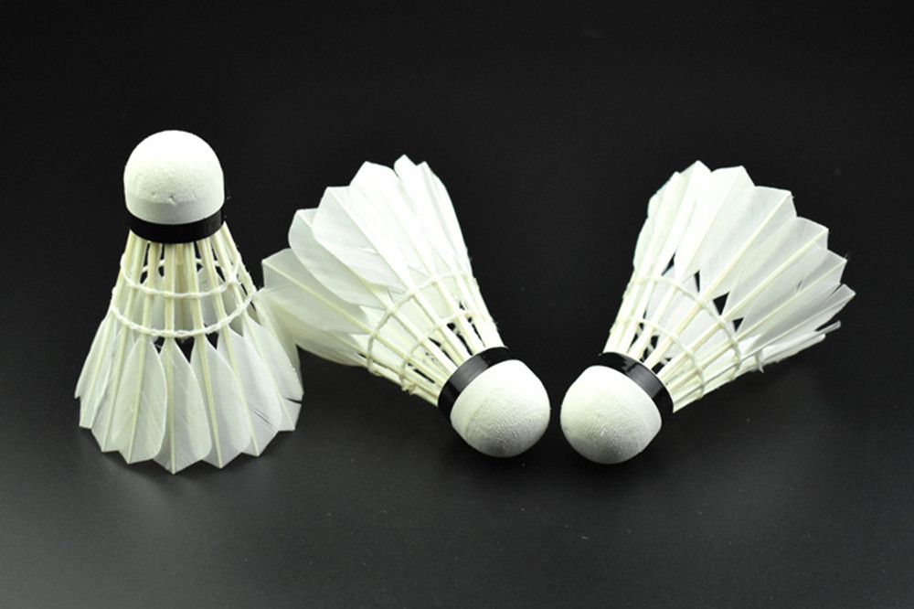 High Quality Duck Feather   Badminton for Primary Intermediate Training 12PCS