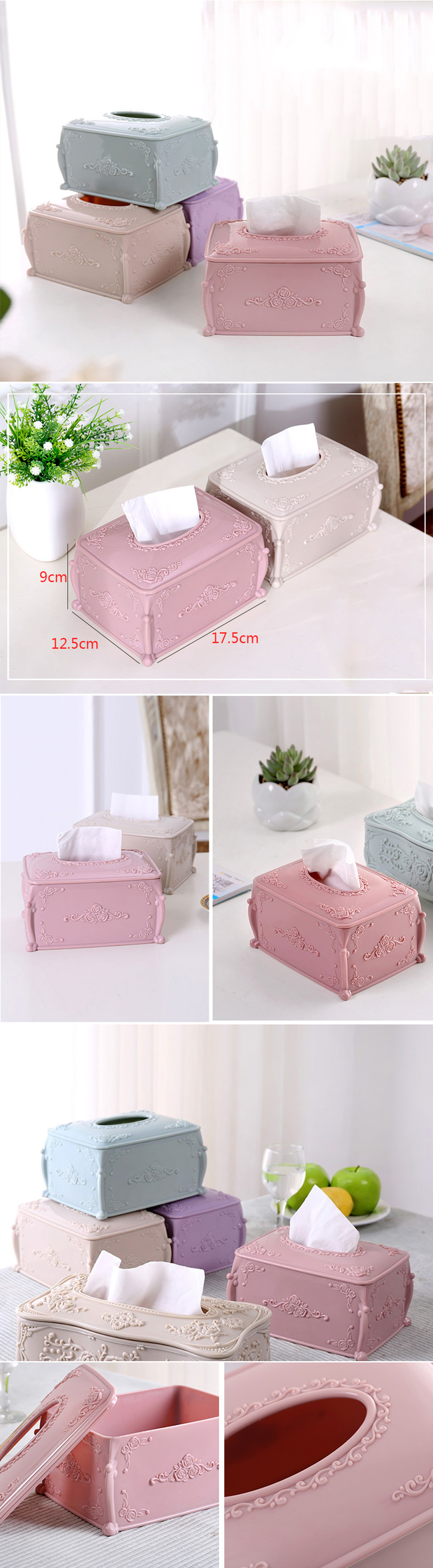Fashion Carved Tissue Box