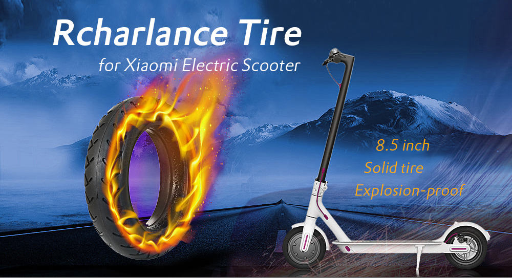 Rcharlance Rubber 8.5 inch Solid Tire for Xiaomi Electric Scooter