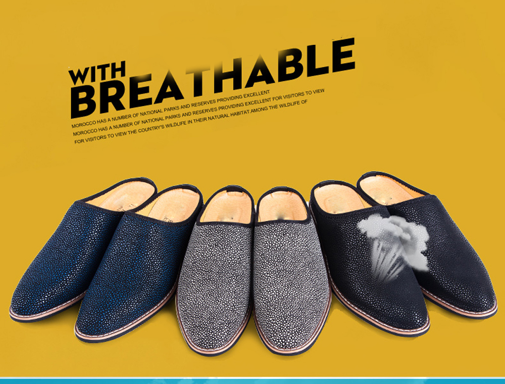 Summer Cool Leather Breathable Men Flip Flops Slippers Leisure Fahsion Shoes