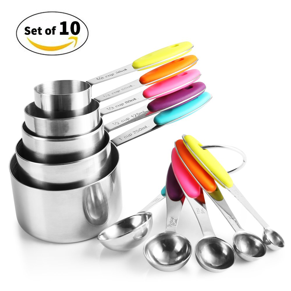 Zanmini ZKS10 Stainless Steel Measuring Spoon Set