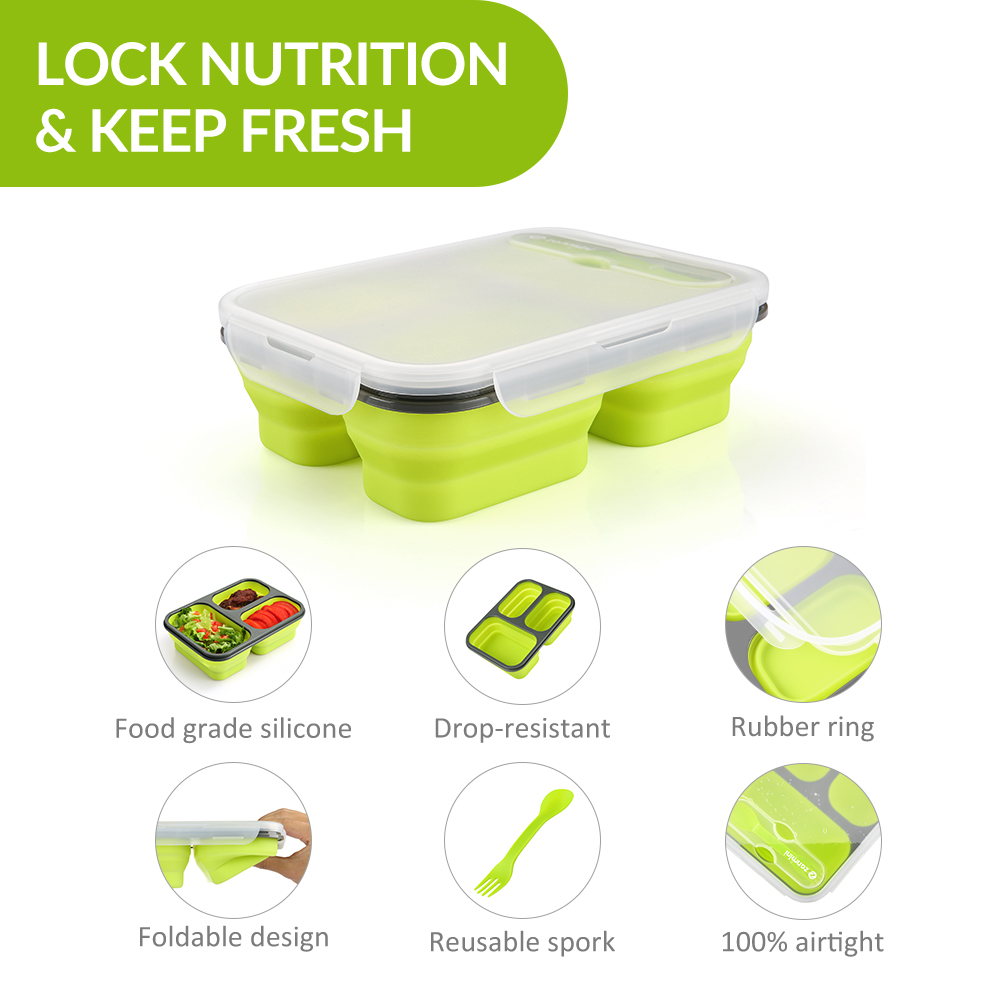 zanmini ZBOX03 Silicone Food Storage Container- Yellow