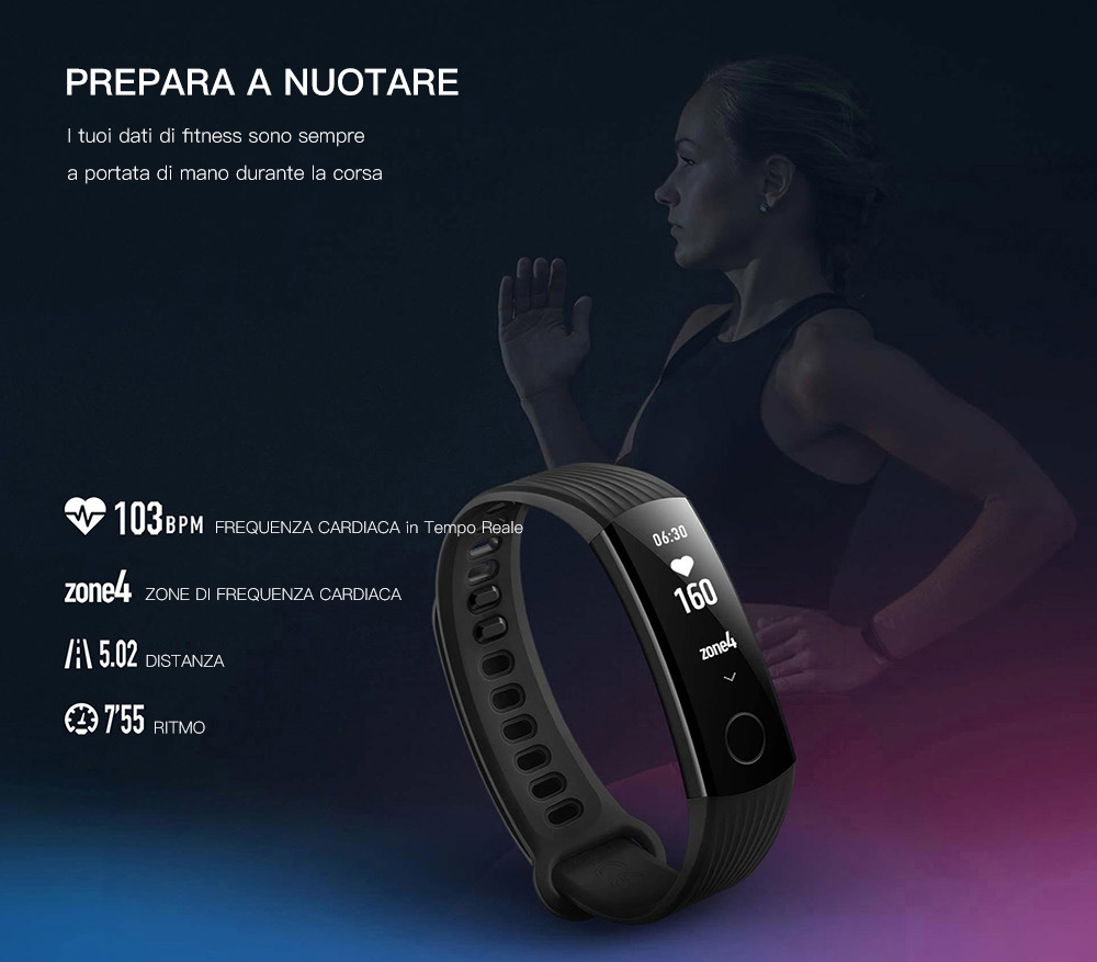 HUAWEI Honor Band 3 Smartband - NERO magazzino Fast-29