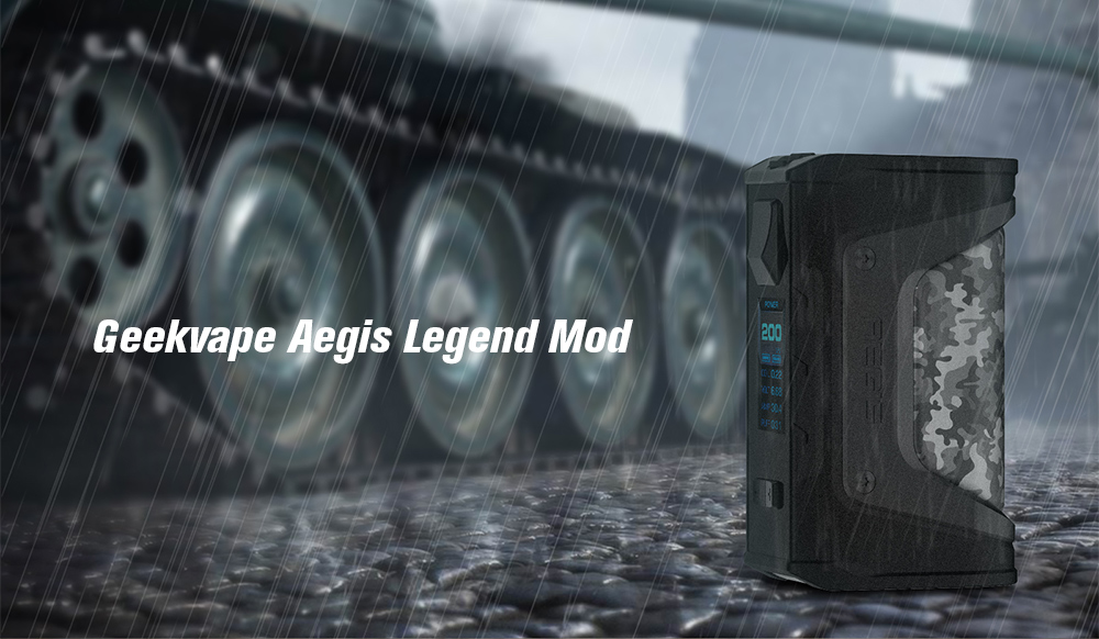 huge discount b55a2 a1071 Geekvape Aegis Legend Mod 200W with Dual 18650 Battery- Black