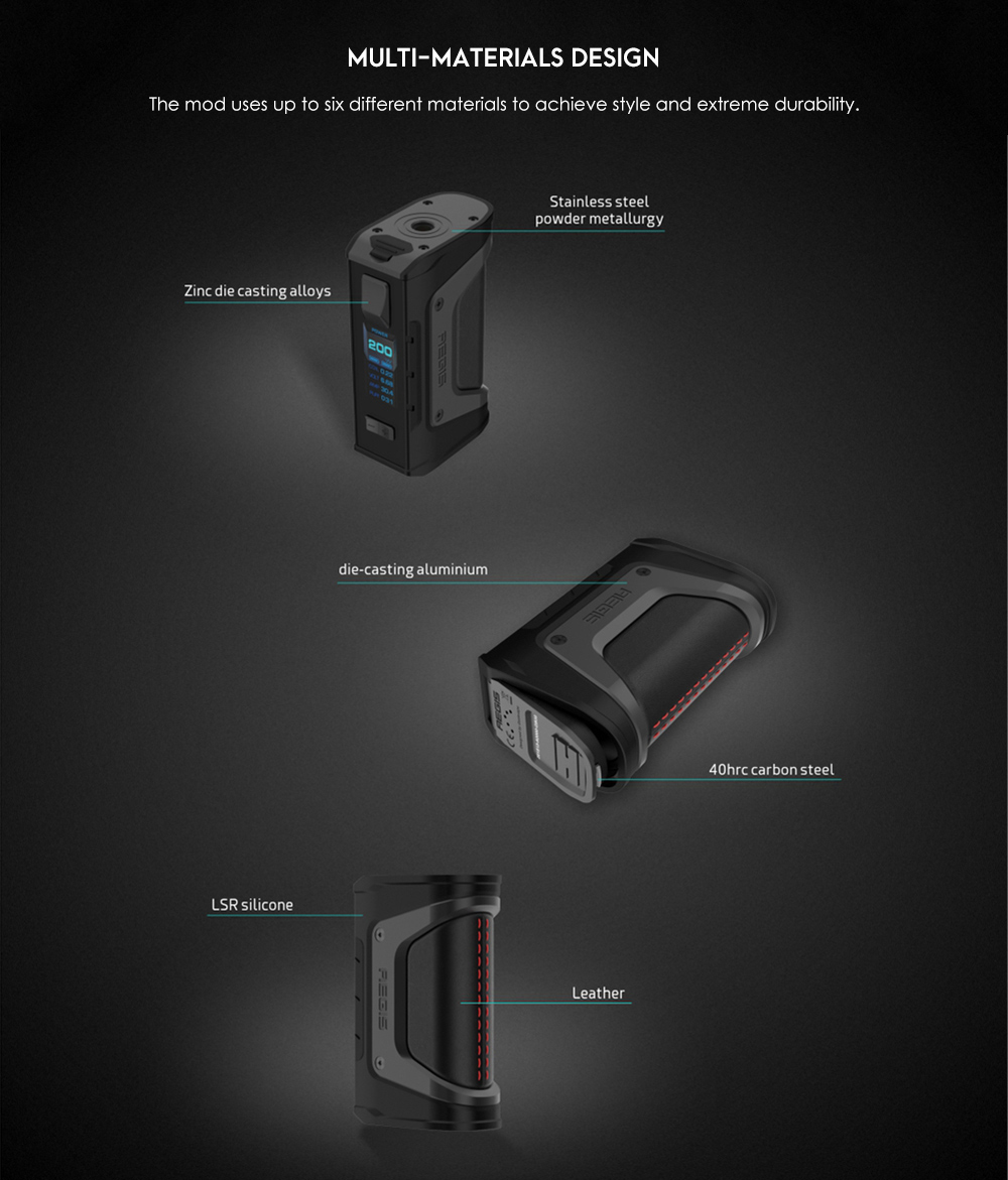 with Dual 18650 Battery- Black