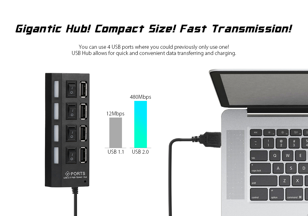 4 port usb 20 hub with individual power switch led indicator package contents 1 x 4 port usb 20 hub freerunsca Image collections