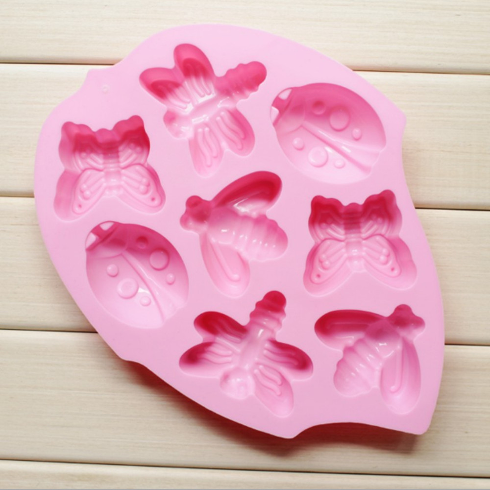 Pink 8 Insect Cookie Ice Cube Mold