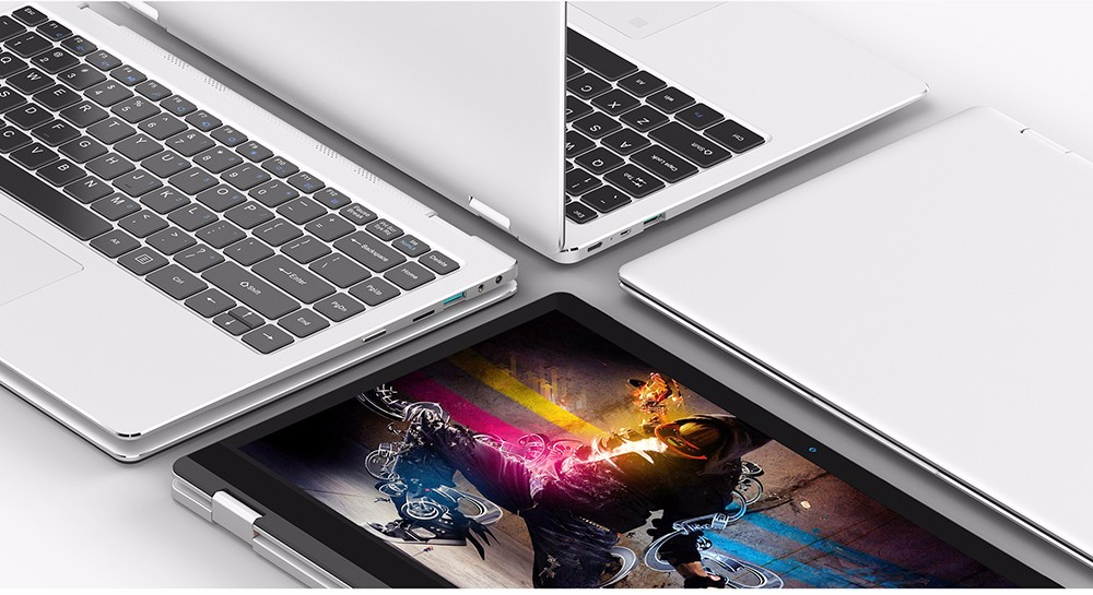 Teclast F6 Pro Notebook 13.3 inch Windows 10 Home English Version Intel Core m3-7Y30 Dual Core 8GB RAM 128GB SSD Fingerprint Recognition Bluetooth 4.2- Silver