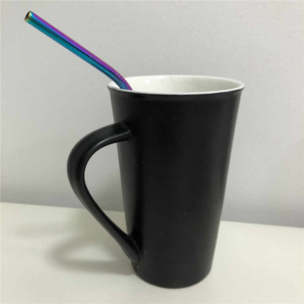 1PCS High Quality Stainless Steel Colorful Drinking Straw- Multi
