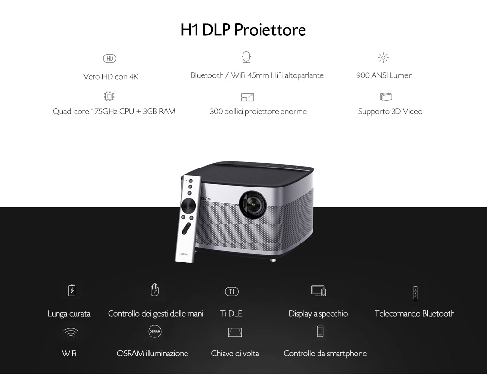 XGIMI H1 DLP Proiecttore Android 5.1 Home Theater