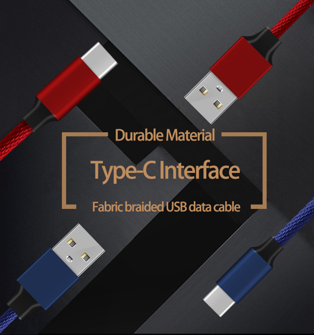3 Pack Metal Shell USB Type-C Cable 3.1 with Nylon Braided Long Service Time