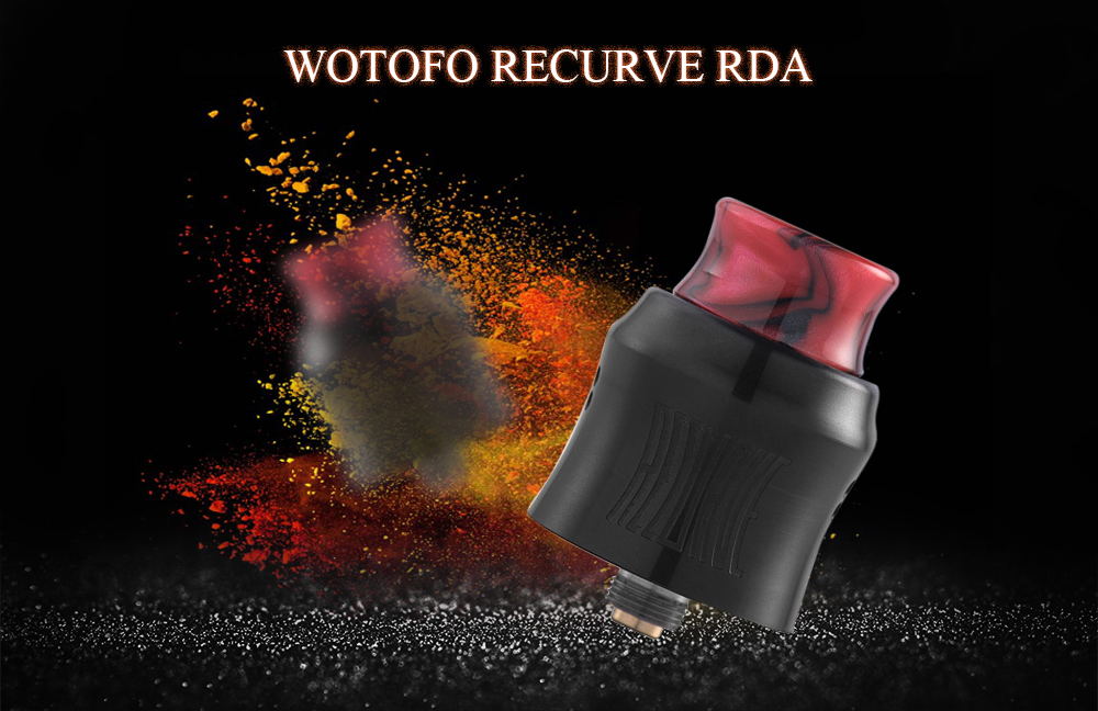 WOTOFO RECURVE RDA with Postless Build Deck for E Cigarette- Black