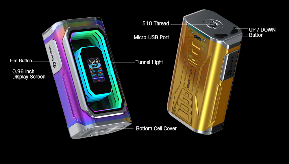 Картинки по запросу Joyetech ESPION Infinite 230W TC display
