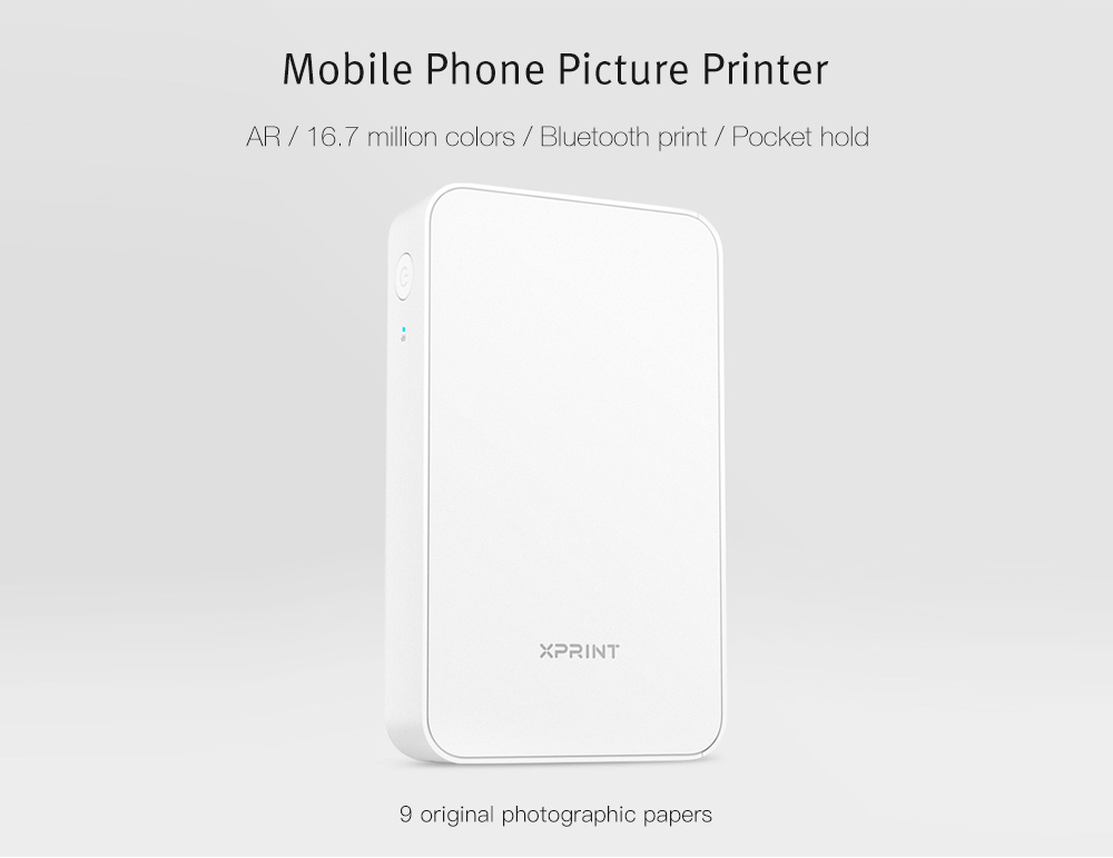 Xiaomi Portable Bluetooth AR Phone Photo Printer: Features