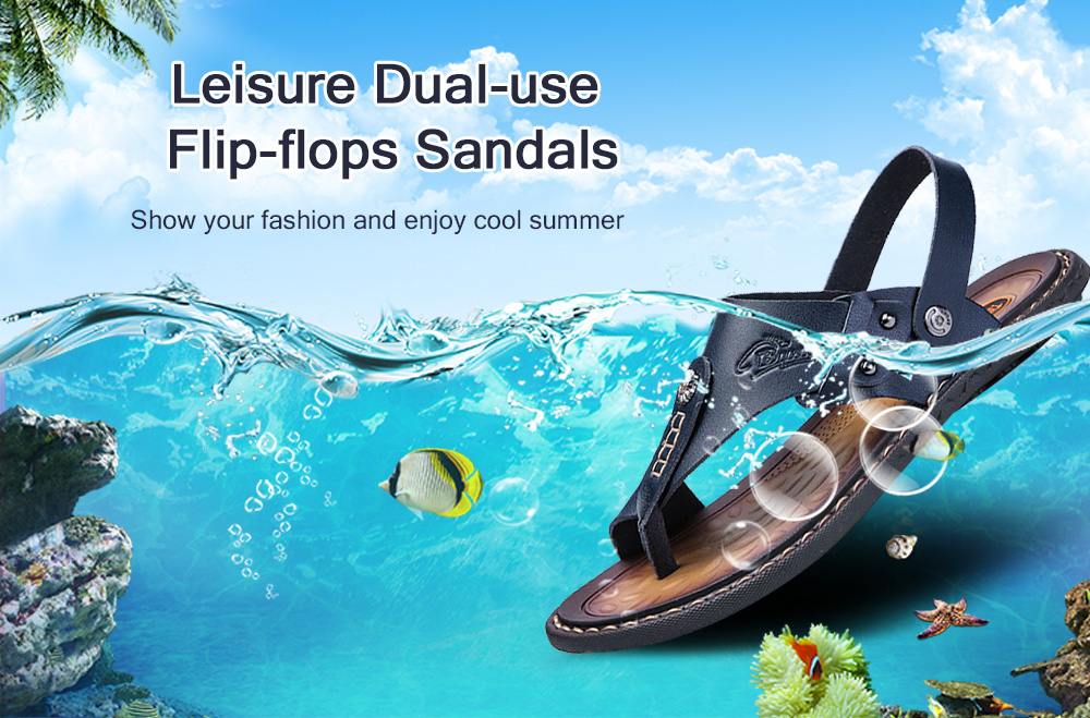 Leisure Outdoor Dual-use Flip-flops Sandals for Men
