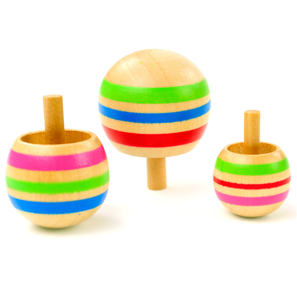 Wooden Genuine Gyro Toys for Children 3PCS