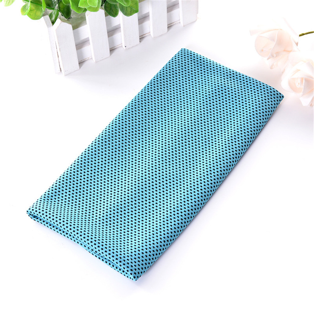 New Icy Cool and Refreshing Sport Cold Towel- Sky Blue