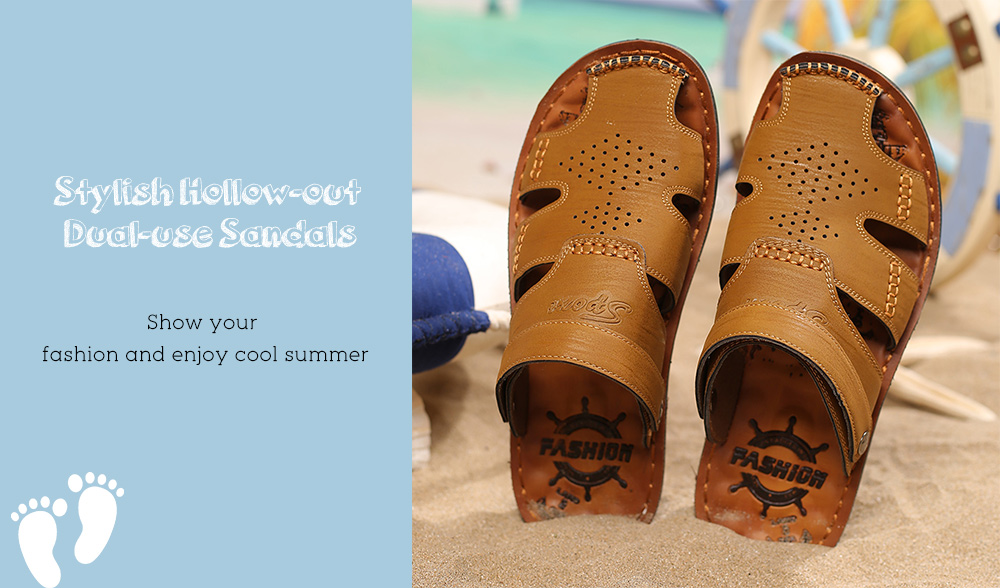 Stylish Hollow-out HandcraftedDual-use Sandals for Men