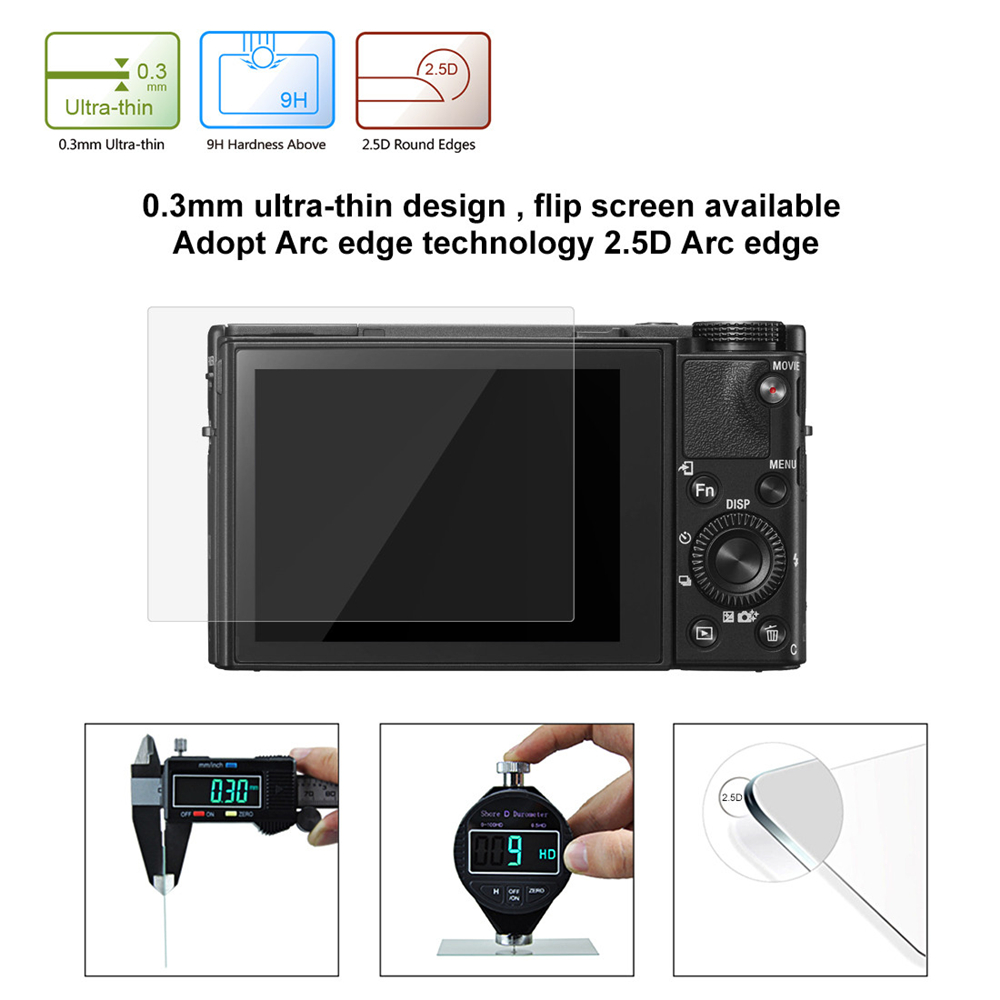 LCD Camera Screen HD Toughened Glass Protective Film for Sony RX100 / A7M2 / A7R