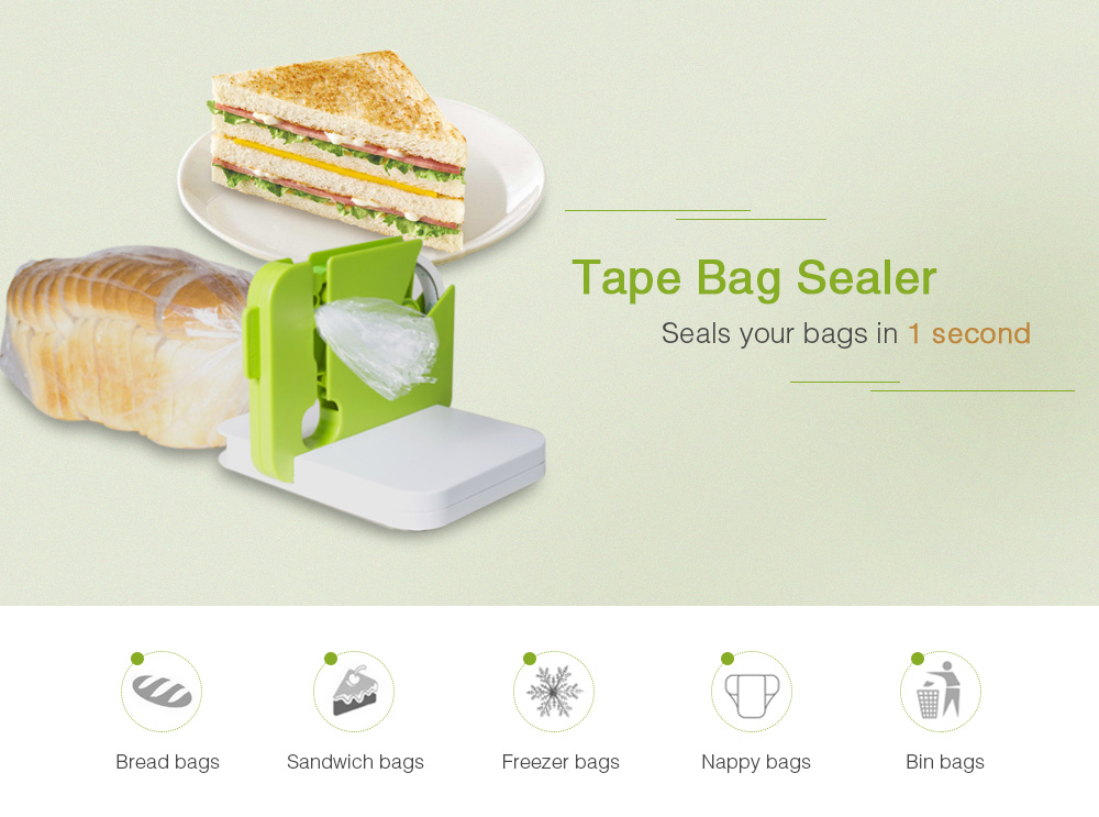 Hand-operated ABS Tape Bag Sealer Multifunctional Sealing Device