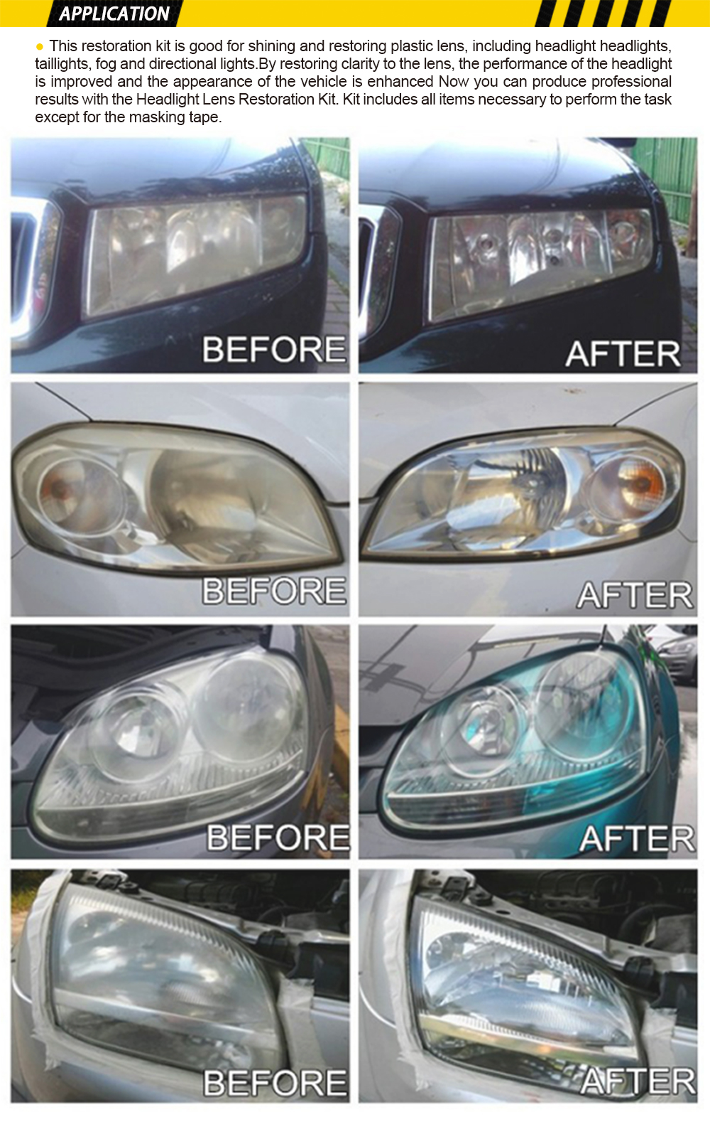 Locbondso Car Diy Headlight Scratch Manumotive Restoration Kit