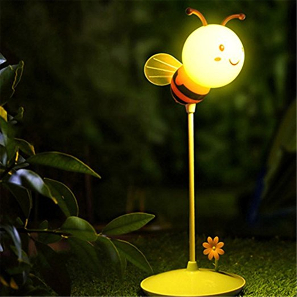 New Cartoon Bee LED USB Charging Touch Desk Lamp for Bedside