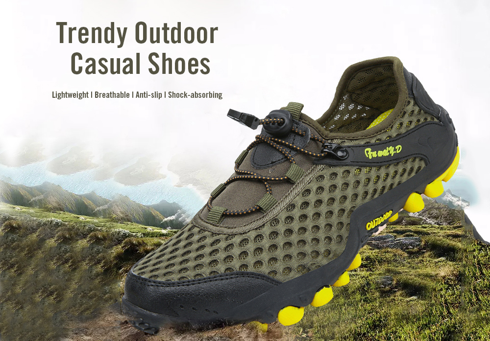 Trendy Outdoor Breathable Anti-slip Casual Shoes for Men- Blue 42