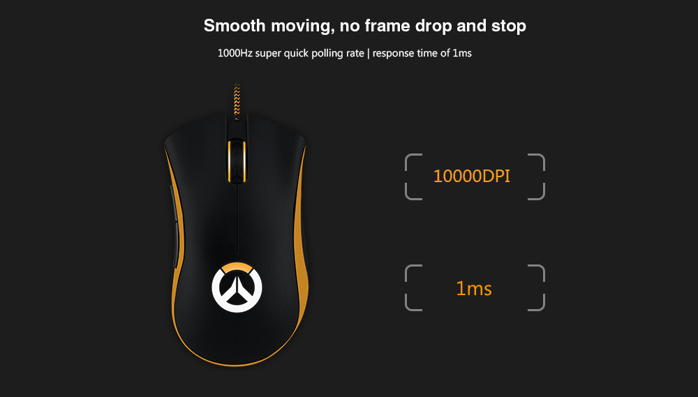 77a23393606 Razer DEATHADDER CHROMA Overwatch Version Wired Gaming Mouse 10000DPI -  Black
