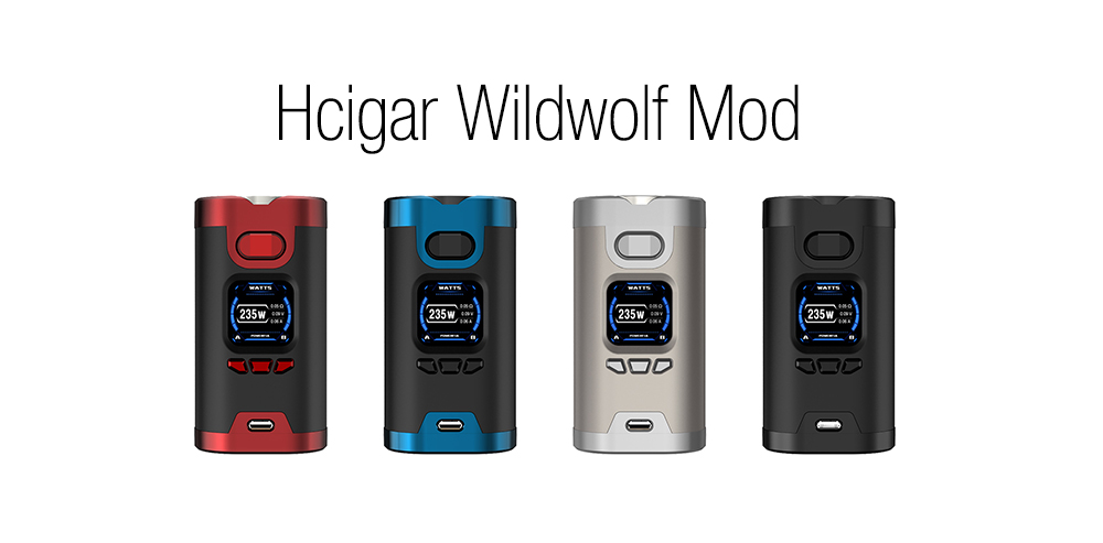 Hcigar Wildwolf Mod with 200 - 600F / 5 - 235W for E Cigarette