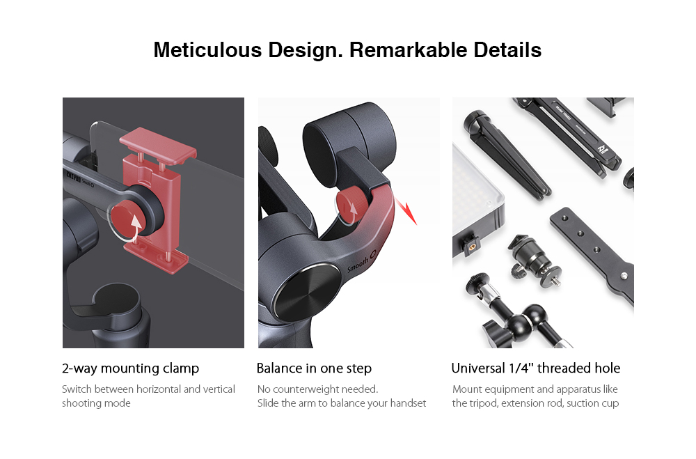 Zhiyun Smooth Q 3-axis Stabilization Gimbal for Gopro 22