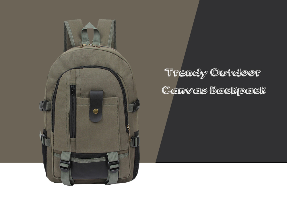 Trendy Outdoor Large Capacity Canvas Backpack for Men