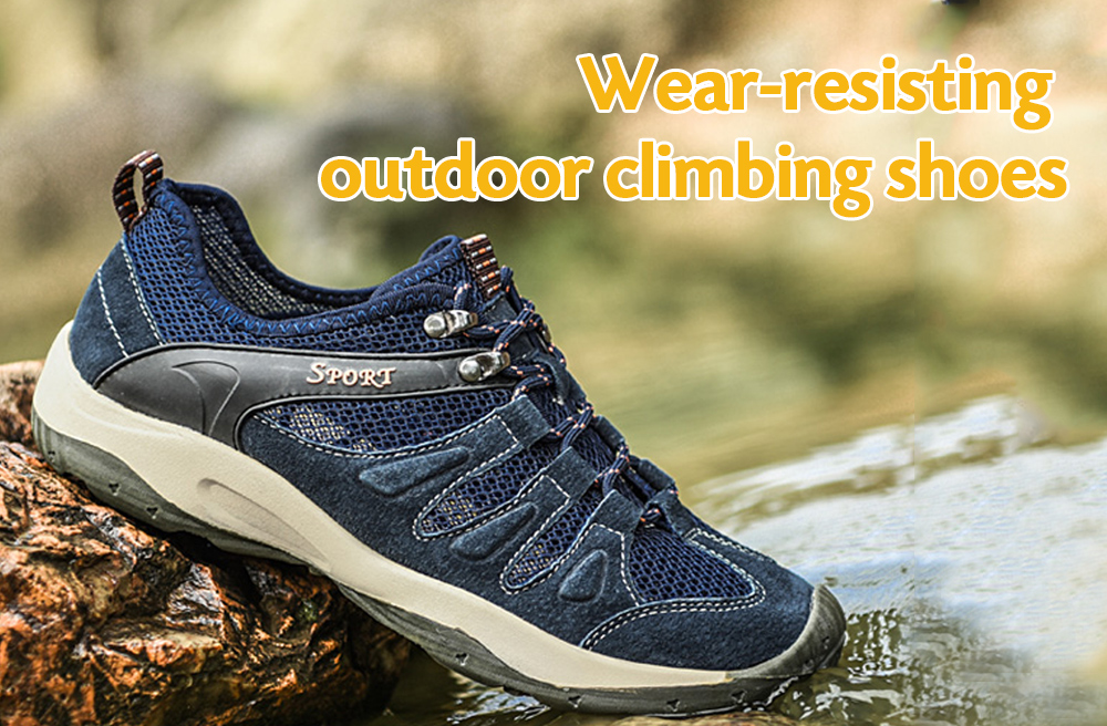 Casual Mesh Upper Athletic Climbing Shoes for Men