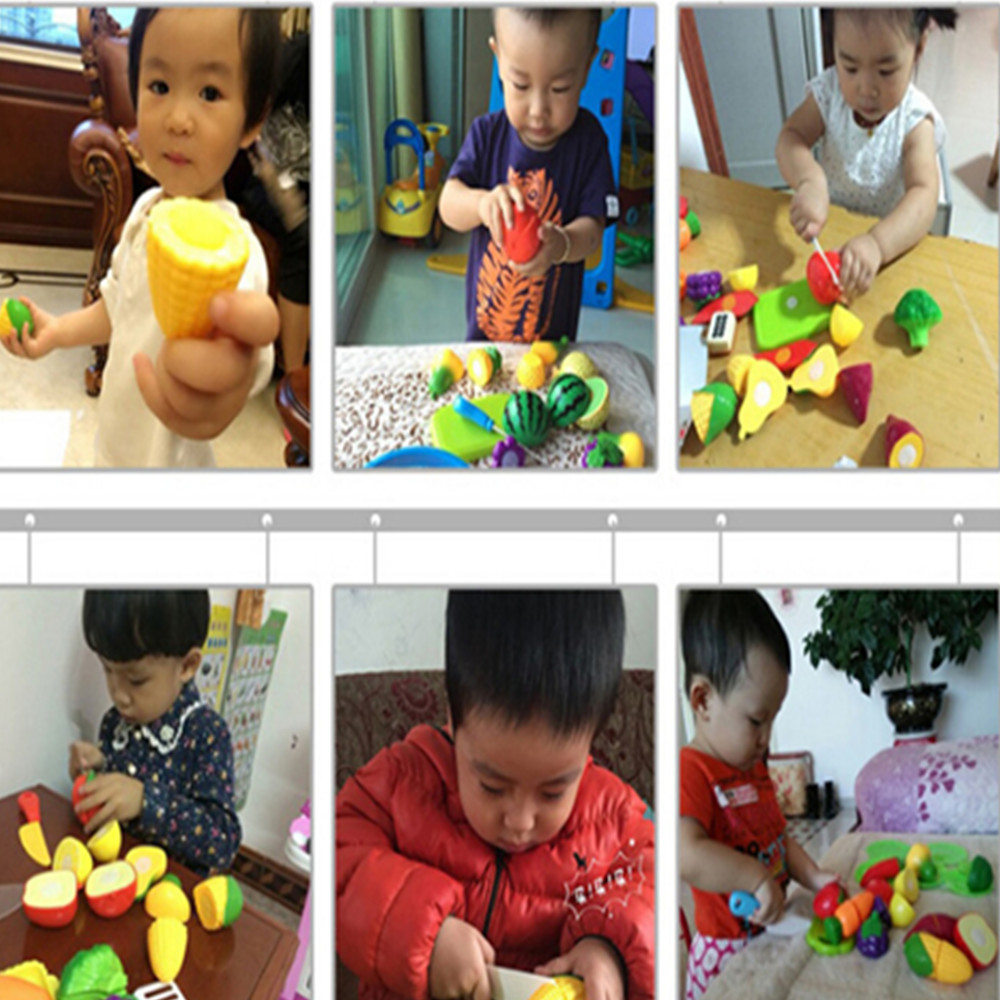 Children Play House Toy Cut Fruit Plastic Vegetables Kitchen