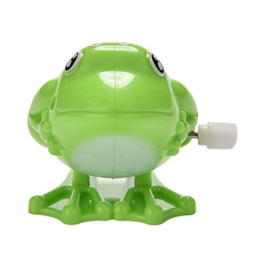 Wind Up Jumping Frog Plastic Classic Clockwork Toys