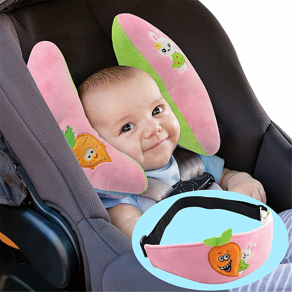 Baby Travel Pillow Infant Head Neck Support For Car Seat Butterfly Blue
