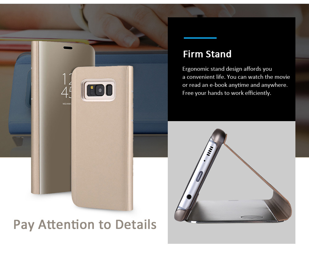 Smart Sensor Stand Cover Case for Samsung Galaxy S8