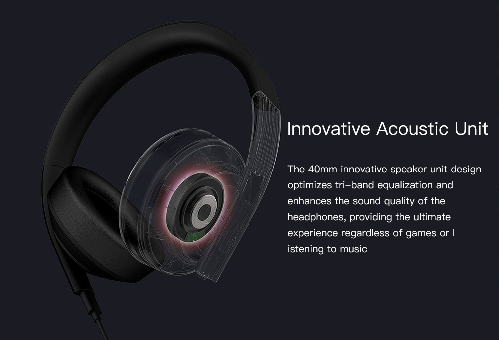 Xiaomi Mi 7.1 Virtual Surround Sound Game Headphone- Black