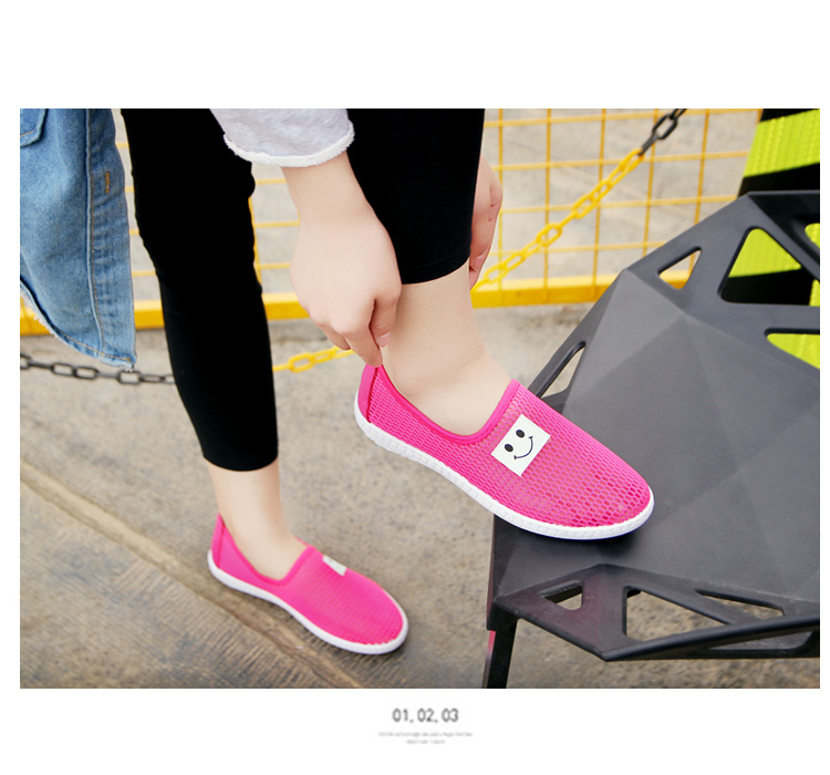 Women Summer Spring Woven Sneakers Soft Slip On Flats Shoes